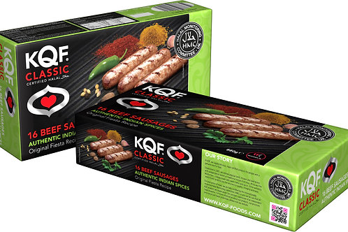 KQF Classic 16 Beef Sausages