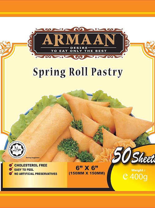 Springroll Pastry (50 sheets) 6 inches