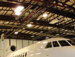 Radiant Tube Heaters in Airplane Hanger