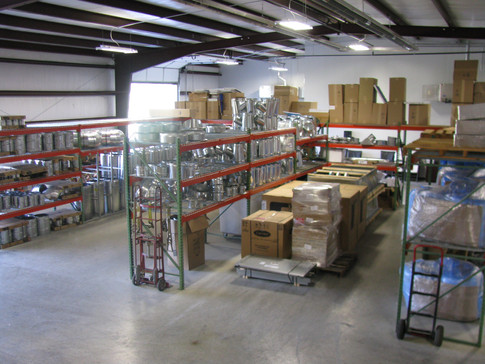 CoRayVac Radiant Tube Heating System in Warehouse