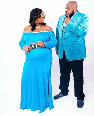Tiffany Blue Off-the Shoulder Dress and Velvet Balzer