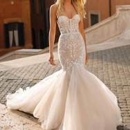 Lace and Tulle Mermaid Front