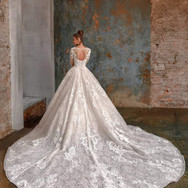 Cathedral Ball Gown w_ Sleeves
