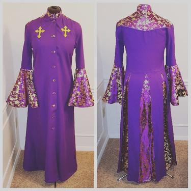 Purple and Gold Women's Cassock