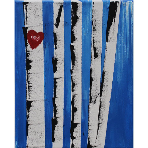 Birch Tree painting on canvas