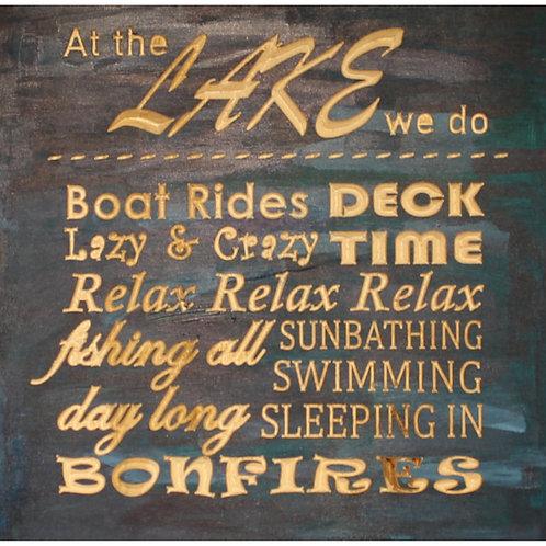 At the Lake CNC engraved wood