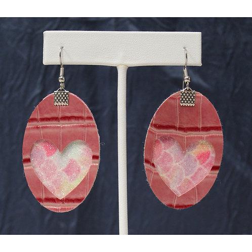 Leather Heart Earrings