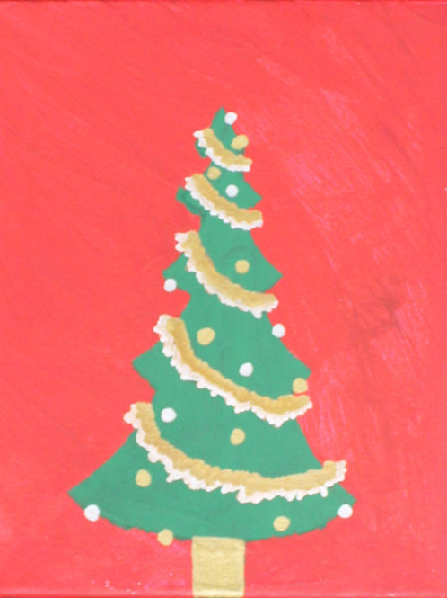Christmas Tree painting on canvas