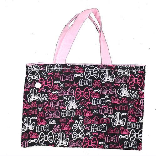 Black and Pink Box Handbag