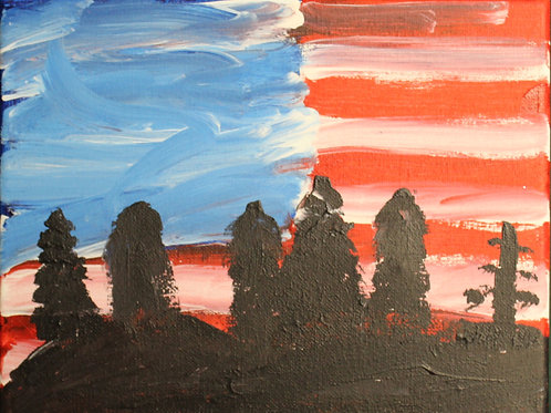 American Flag Painting on canvas