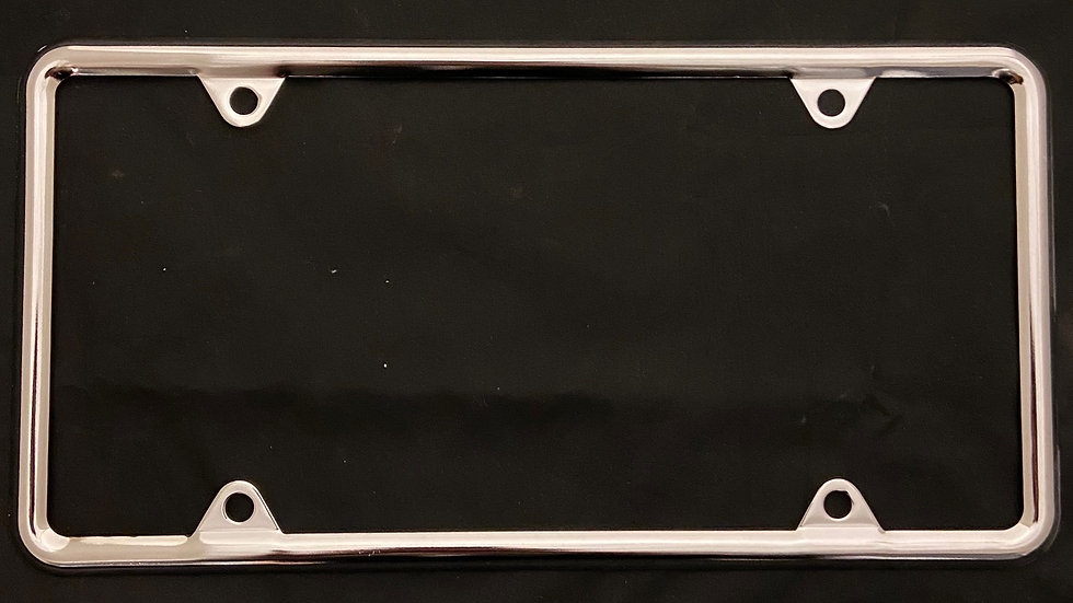 CHROME Licence frame for capital US Style Plate 12x6""