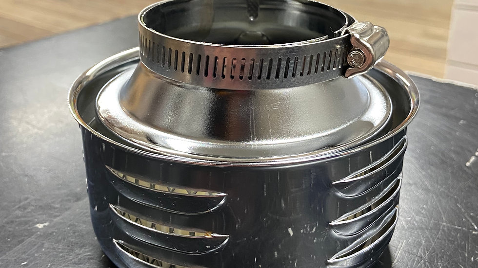 Speedway Louvered Style Chrome Air Cleaner, 2-5/8 Inch