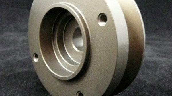 Alternator pulley with fan mount