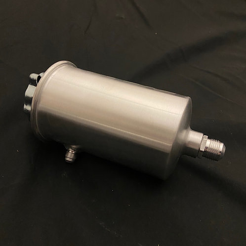 Spun aluminium power steering resevoir