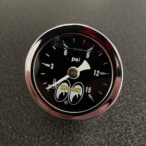 MOONEYES 0-15 psi Liquid Filled Pressure Gauge