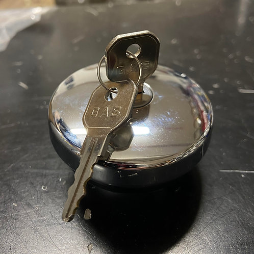 Chevy 47-71 Chrome Locking Gas Cap (With Two Keys)