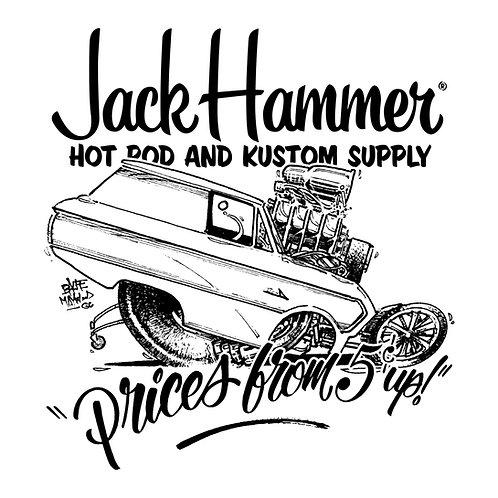JackHammer 'Prices From 5c Up!' Sticker Die Cut