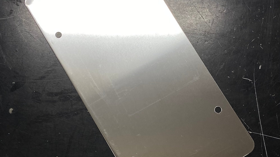 Smooth Stainless License Plate Back #91050130