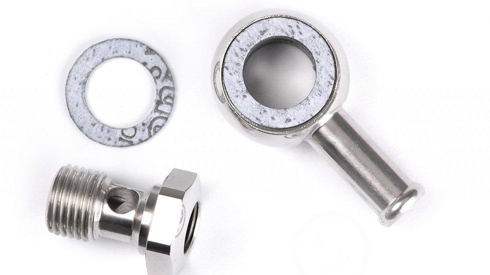 9082K-G-P Banjo fitting – single end (Fits fuel gauge) (Polished)