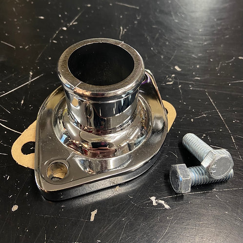 Chevy/Mopar Chrome Water Neck, Gasket Sealed