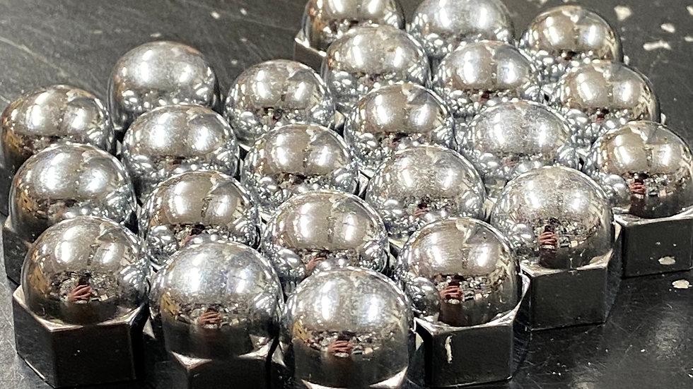 Flathead Chrome Head Nut Covers 11/16