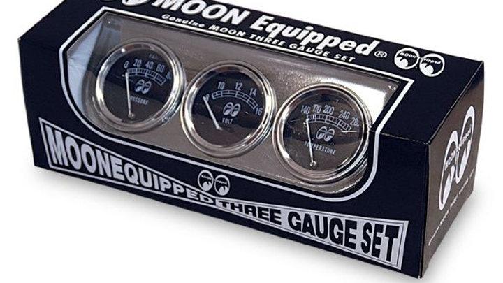 Moon Equipped 3 gauge set