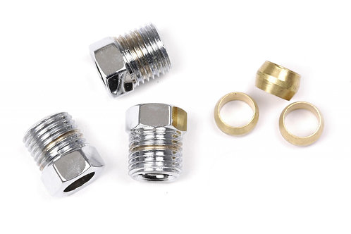 9081K-BIG-C Compression fittings for 5-16in line (Chrome)