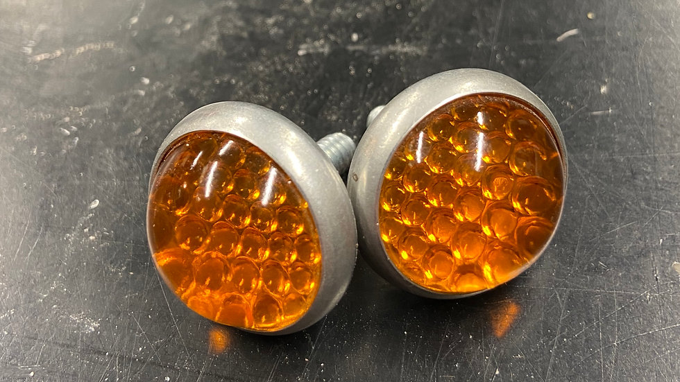 Glass License Plate Reflectors (Amber)