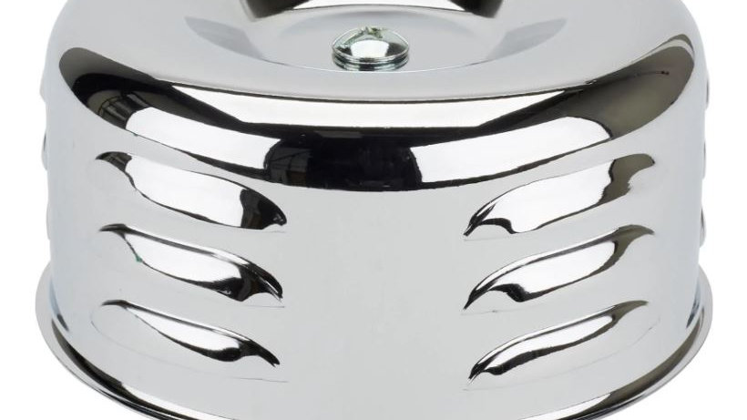 Louvered Style Chrome Air Cleaner, 2-5/8 Inch #91011005