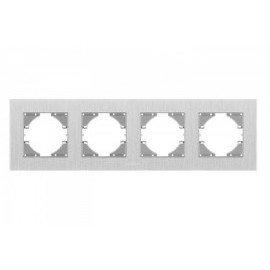 VIDEX BINERA Рамка серебр алюминий 4я горизонт (VF-BNFRA4H-SL)