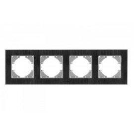 VIDEX BINERA Рамка черн алюм 4я гориз (VF-BNFRA4H-B)