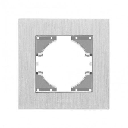 VIDEX BINERA Рамка серебр алюминий 1я горизонт (VF-BNFRA1H-SL)