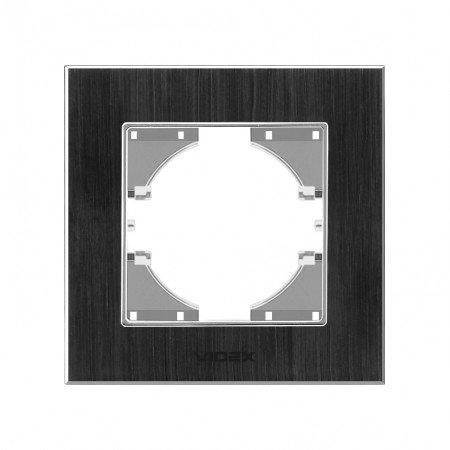 VIDEX BINERA Рамка черн алюм 1я гориз (VF-BNFRA1H-B)