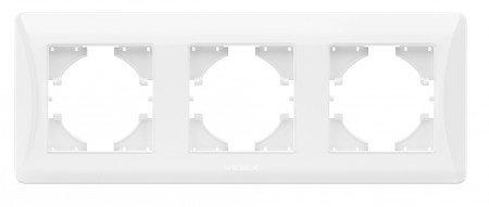 VIDEX BINERA Рамка белая 3 поста горизонтальная (VF-BNFR3H-W) (12/96)