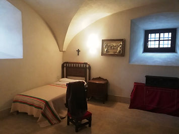 Parador de Corias - Recreación de la antigua celda del abad