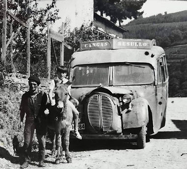 Casa Manón, en Besullo (Cangas del Narcea). Antigua línea Besullo-Cangas