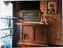 Casa Manón, en Besullo (Cangas del Narcea). Interior. Antigua taquilla de la línea Besullo-Cangas