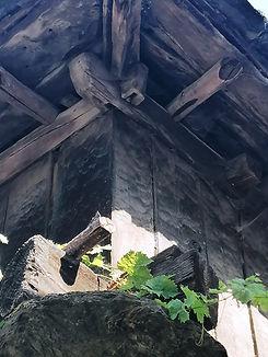 Detalle de un antiguo hórreo