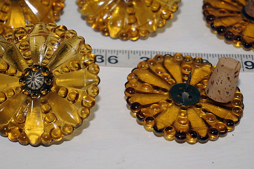 Set Of 8 Amber Glass Curtain Tieback