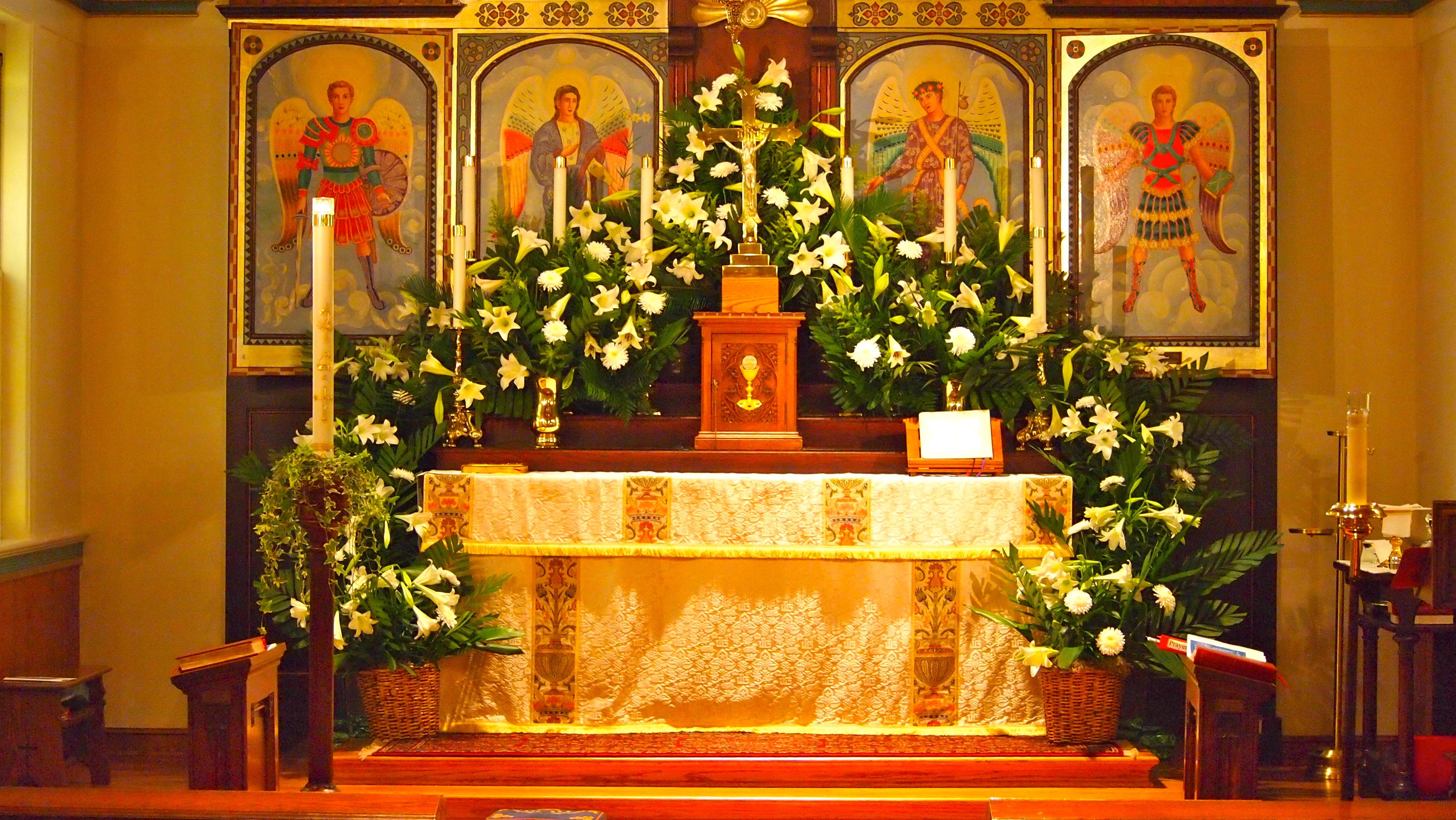 Flower Guild: Easter High Altar