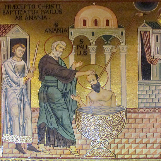 Baptism of Paul by Ananias, CappellaPalatina.jpg