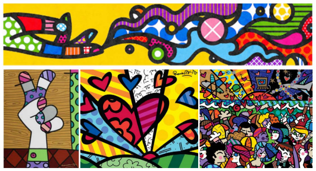 Top Row Apple; Bottom Row Romero Britto