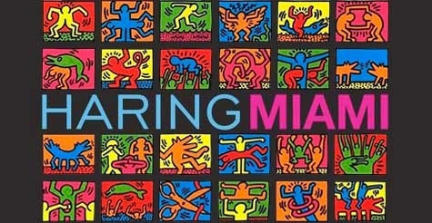 Flyer for 2013's Haring Miami exhibit