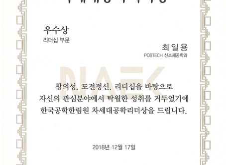 "2018, ""Excellence award"", NAEK, Il Yong Choi"