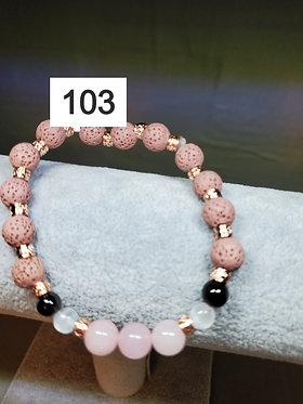 Rose Quartz Diffuser Bracelet