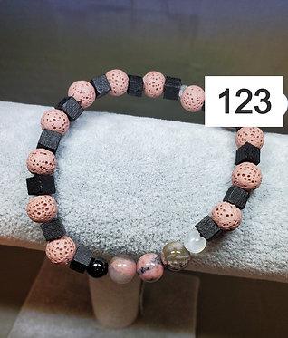 Rhodonite Diffuser Bracelet