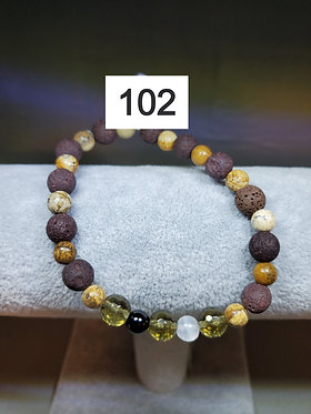 Smokey Quartz Diffuser Bracelet