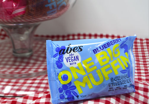 Our individually wrapped BIG muffins are bursting with fresh blueberry smash goodness.