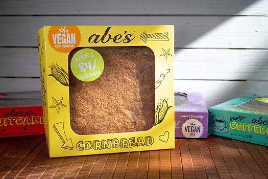 Moist & sweet, this square cake is the perfect complement to chili and soups. Get ready to be deemed the MVP of the meal⁠—vegan and non-vegan friends & family will thank you!