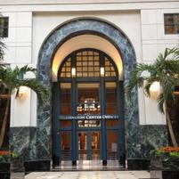 Washington Center Marble Column Painted